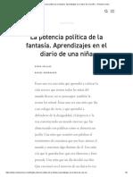 La potencia política de la fantasía. Aprendizajes en el diario de una niña — Revista Común.pdf