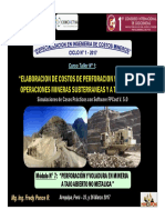 Perforación y Voladura en Mineria a Tajo Abierto No Metalica