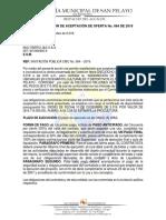 Comunicacion de Aceptacion de Oferta Bandera