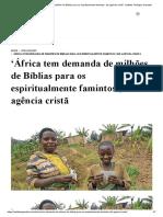 'África tem demanda de milhões de Bíblias para os espiritualmente famintos', diz agência cristã - Instituto Teológico Gamaliel.pdf