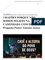 3 RAZÕES PORQUE NÃO SOMOS FELIZES NA CAMINHADA COM DEUS - Pregação Pastor Antonio Junior - Instituto Teológico Gamaliel.pdf