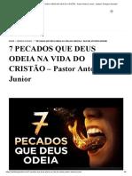 7 PECADOS QUE DEUS ODEIA NA VIDA DO CRISTÃO - Pastor Antonio Junior - Instituto Teológico Gamaliel.pdf