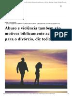 Abuso e violência também são motivos biblicamente aceitáveis para o divórcio, diz teólogo - Instituto Teológico Gamaliel.pdf