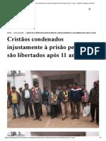 Cristãos condenados injustamente à prisão perpétua são libertados após 11 anos - Instituto Teológico Gamaliel.pdf