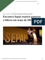 Encontro Sepal reunirá pastores e líderes em maio de 2020 - Instituto Teológico Gamaliel.pdf