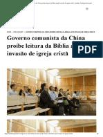 Governo comunista da China proíbe leitura da Bíblia após invasão de igreja cristã - Instituto Teológico Gamaliel.pdf