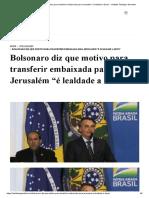 """Bolsonaro diz que motivo para transferir embaixada para Jerusalém """"é lealdade a Deus"""" - Instituto Teológico Gamaliel.pdf"""