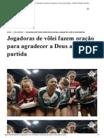 Jogadoras de vôlei fazem oração para agradecer a Deus após partida - Instituto Teológico Gamaliel.pdf