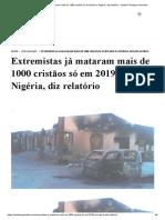 Extremistas já mataram mais de 1000 cristãos só em 2019 na Nigéria, diz relatório - Instituto Teológico Gamaliel.pdf