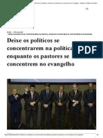 Deixe os políticos se concentrarem na política, enquanto os pastores se concentrem no evangelho - Instituto Teológico Gamaliel.pdf