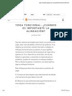 Yoga funcional- ¿cuándo es importante la alineación?  por Bernie Clark
