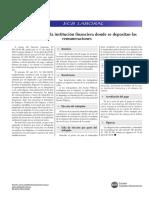 ELECCION DE INSTITUCION FINANCIERA PARA EL PAGO DE REMUNERACIONES