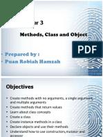 Chapter 3 Methods Object ForStudent