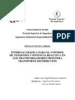 INTERFAZ GRÁFICA PARA EL CONTROL DE TENSIONES Y POTENCIA REACTIVA EN LOS TRANSFORMADORES FRONTERA TRANSPORTE-DISTRIBUCIÓN