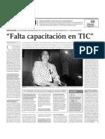 """""""Falta capacitación en TIC"""""""