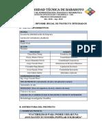 Esquema de Informe Inicial de Proyecto Integrador