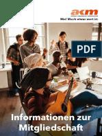 Broschuere Informationen Zur Mitgliedschaft