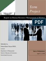 Human Resource Management of Walton