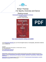 Homoeopathy for Sports Exercise and Dance Emlyn Thomas.02996 1Contents