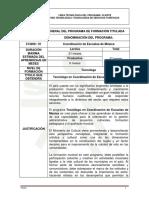 Diseno Curricular to Coordinacion de Escuelas de Musica