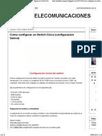 REDES Y TELECOMUNICACIONES- Como configurar un Switch Cisco (configuracion basica)