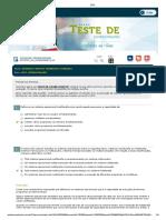 Sistema Operacional - Teste de conhecimento + Avaliação parcial