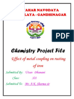Chemistry Project File Effect of Metal c