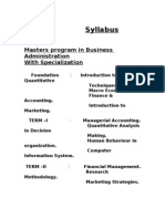 Syllabus for 24 Mths MBA With Specialization