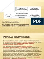 Variables Intervinientes