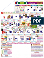 2020 Calendar with Panchangam