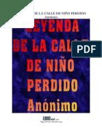 Leyenda de La Calle de Niño Perdido