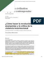 ¿Cómo hacer la revolución_ Los anarquistas y la crítica de la violencia insurreccional