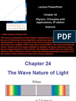 Wave Nature of Light Ch. 24