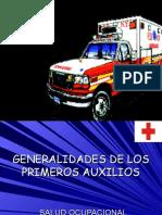 Generalidades de Los Primeros Auxilios