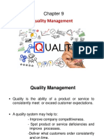 Chapter 9. Quality Management