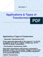 2.  APPLICATION & TYPES OF TRANSFORMERS