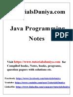 Java Notes2 - TutorialsDuniya