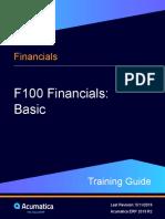 F100 Financial basic of Acumatica