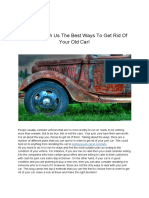 Discover With Us the Best Ways to Get Rid of Your Old Car