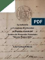 La Industria y El Consumo de Chocolate en España