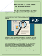 How to Make a Resume - 4 Things a Basic Resume Template Provides