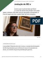 Fisco Trava Devolução de IRS a Pensionistas - Impostos - Jornal de Negócios