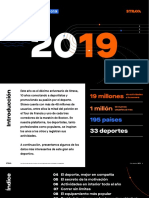 Strava 2019 Informe españa sobre corredores y ciclistas.