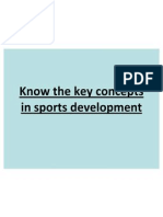 Know the Key Concepts in Sports Development
