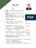 01. Cv Melisario Prado (Técnico Instrumentista)