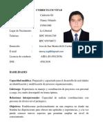 05. Cv Danny Calderón (Operario Instrumentista) - Opcional