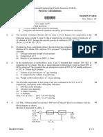 W17 Process Calculation