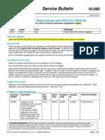 Honda - Safety Recall Electric Parking Brake and VSA DTC U3000-49