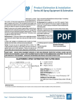 AS Spray Product Estimation and Installation Sheet