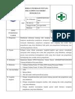 7.4.3.5 SOP Pemberian Informasi Tentang Efek Samping Dan Risiko Pengobatan